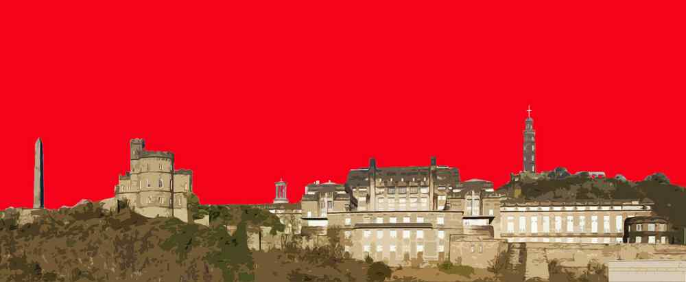 Urbane Art Gallery is the only gallery to have Stephen O'Neil's latest print of Calton Hill